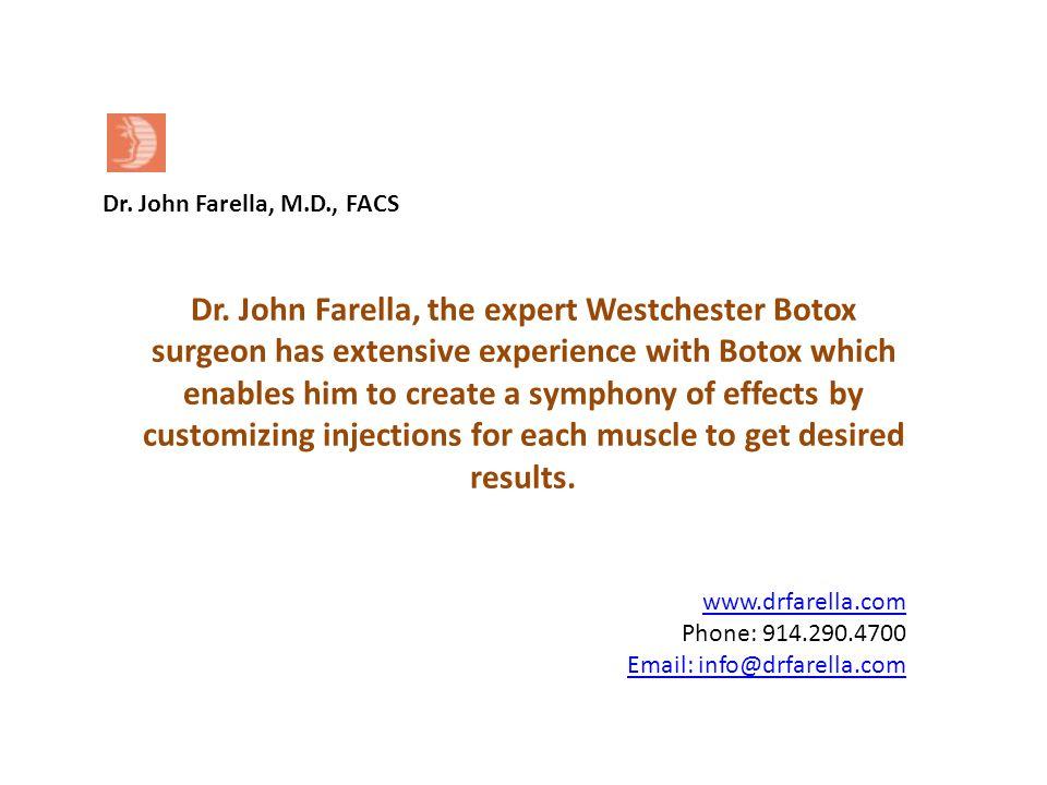 www.drfarella.com Phone: 914.290.4700 Email: info@drfarella.com Dr.
