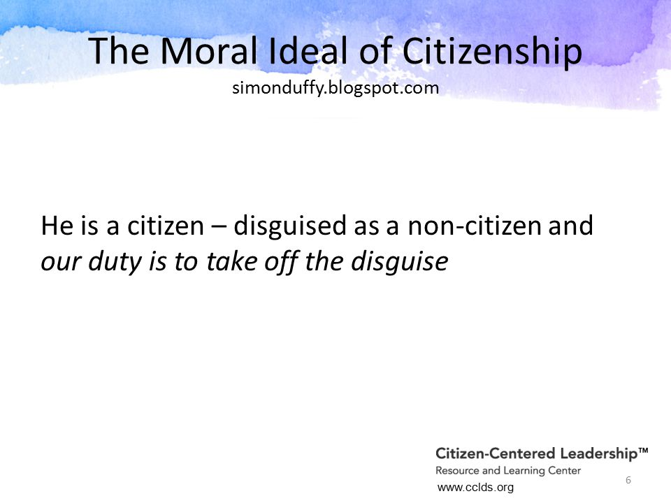 Citizenship and the Role of Place Missouri AID Petitioned U.S.