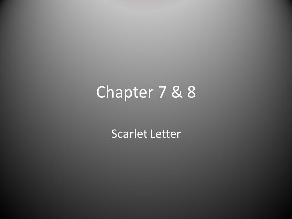 Chapter 7 & 8 Scarlet Letter