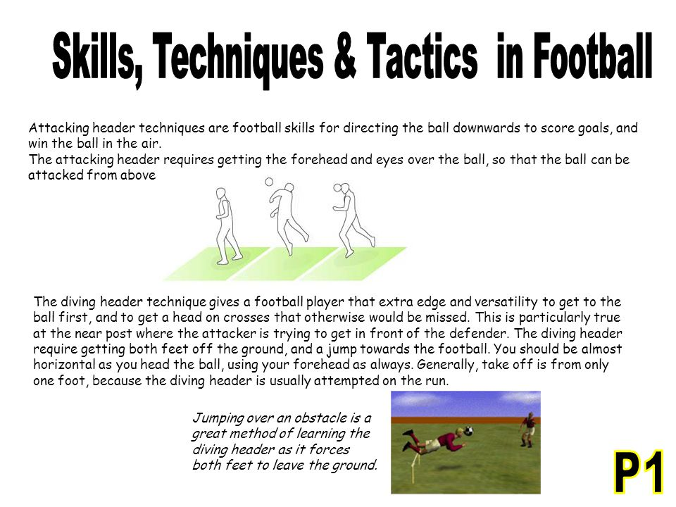 Attacking header techniques are football skills for directing the ball downwards to score goals, and win the ball in the air. The attacking header req