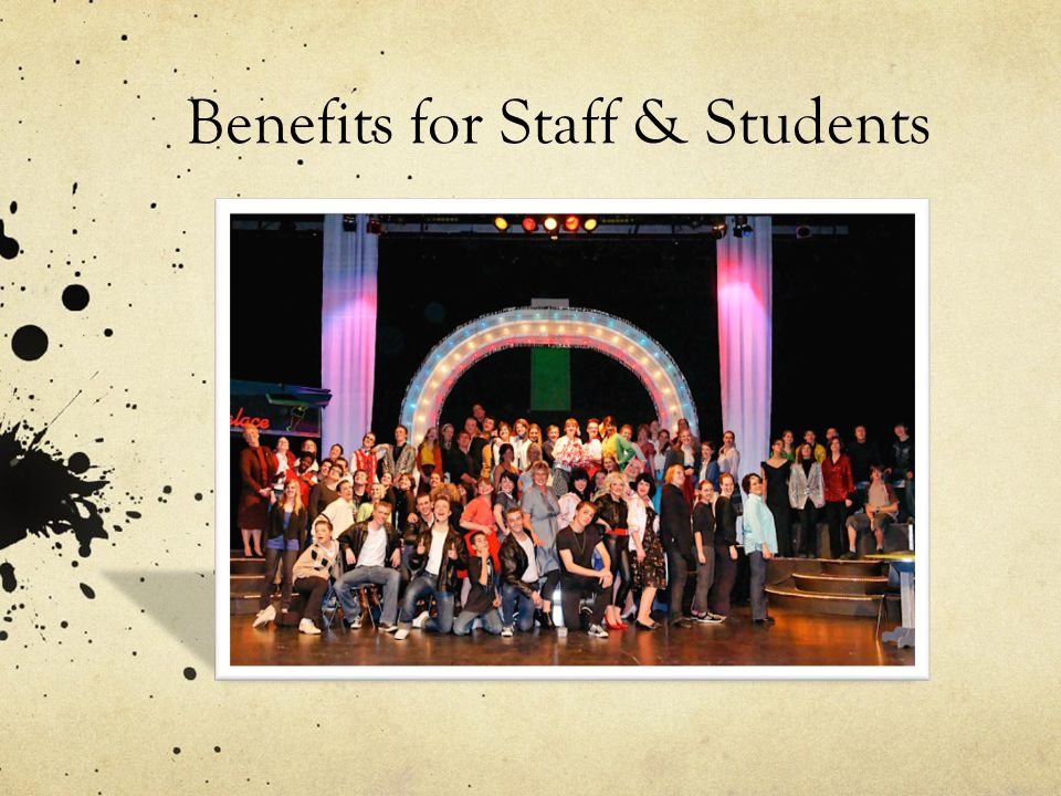 Benefits for Staff & Students
