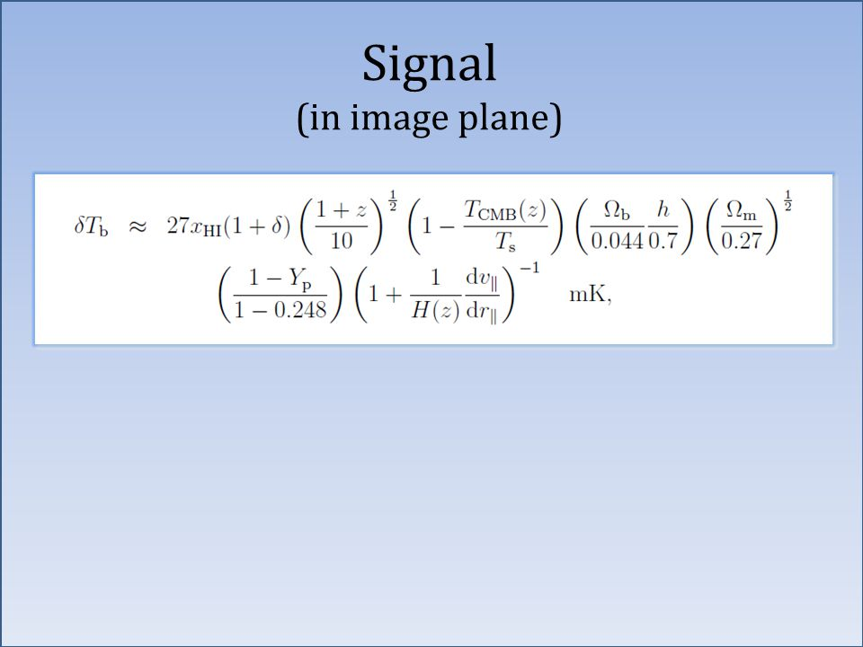 Signal (in image plane)