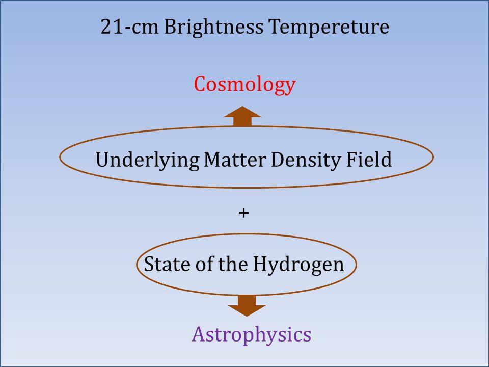 Underlying Matter Density Field + State of the Hydrogen Cosmology Astrophysics 21-cm Brightness Tempereture