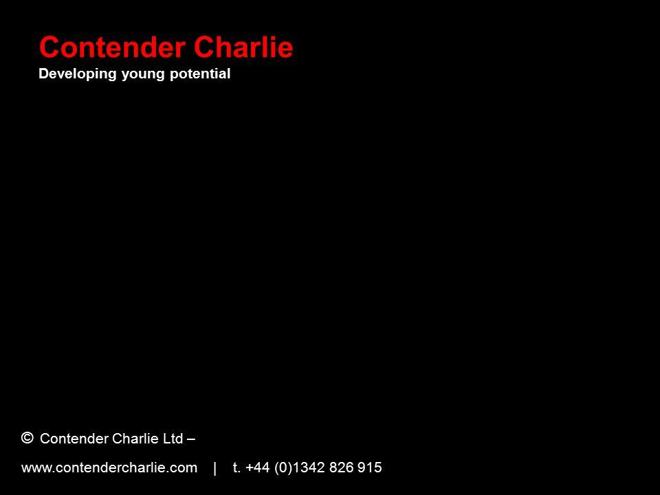 © Contender Charlie Ltd – www.contendercharlie.com | t.