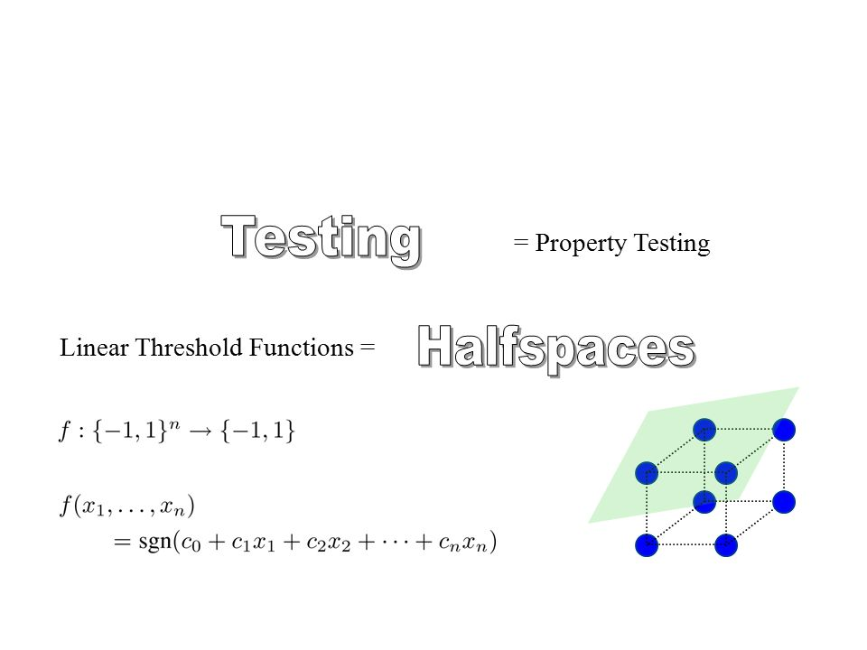 But does this characterize halfspaces.