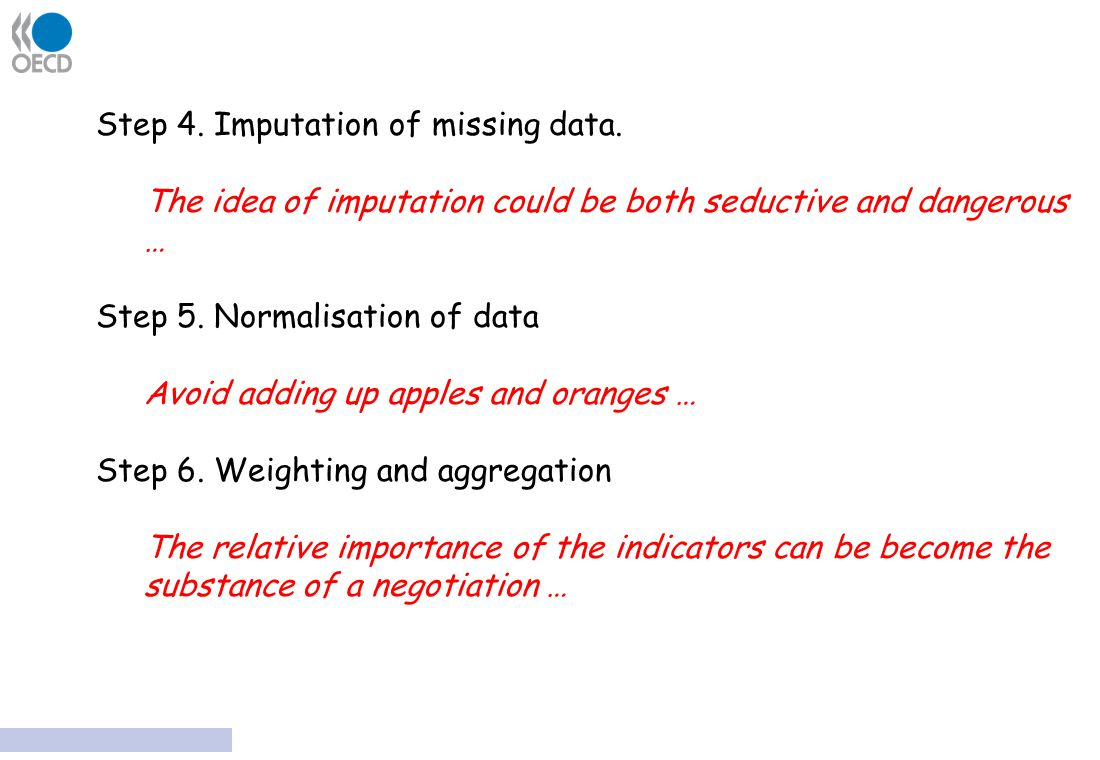 Step 4. Imputation of missing data.