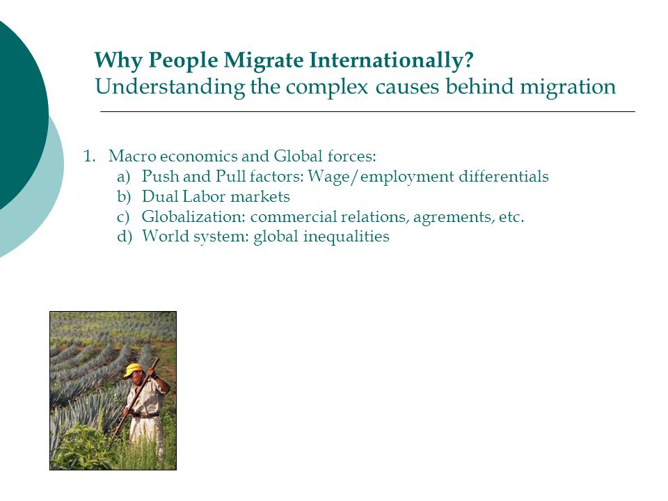 Why People Migrate Internationally.