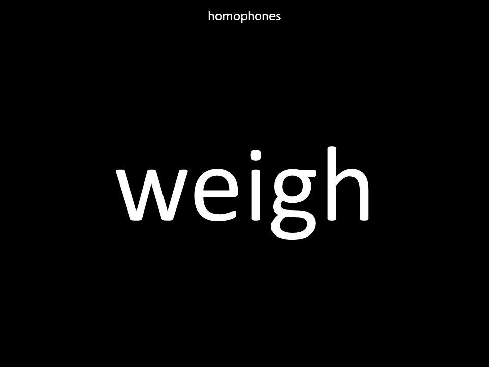 weigh homophones