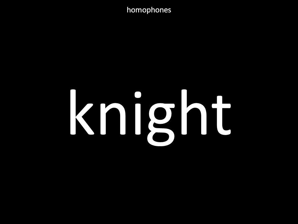 knight homophones