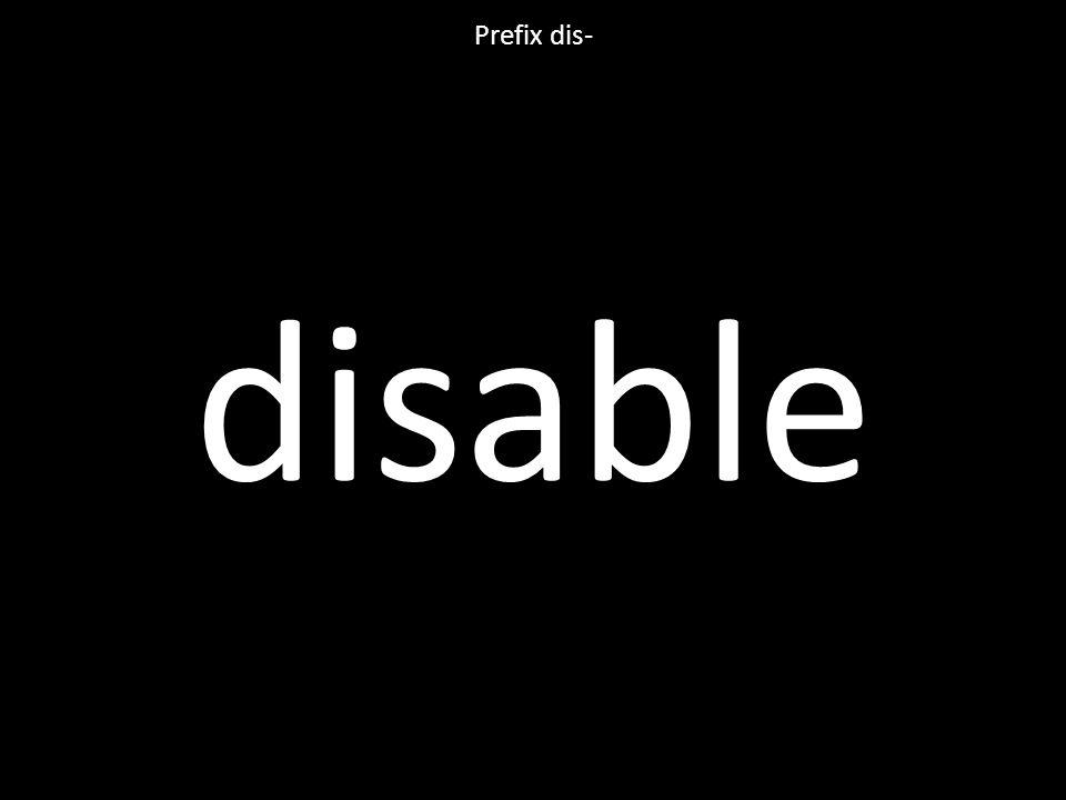 disable Prefix dis-