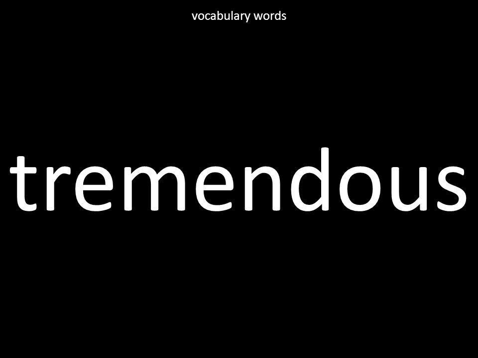 tremendous vocabulary words