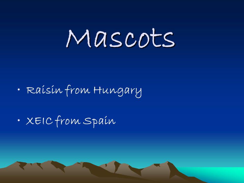 Mascots Raisin from Hungary XEIC from Spain