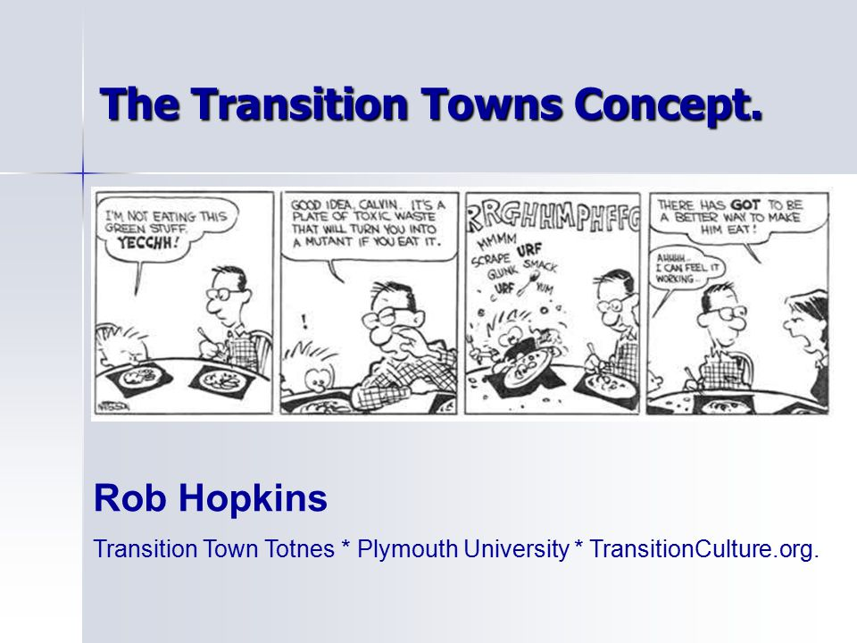 The Transition Towns Concept.