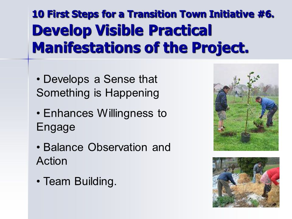 10 First Steps for a Transition Town Initiative #6.