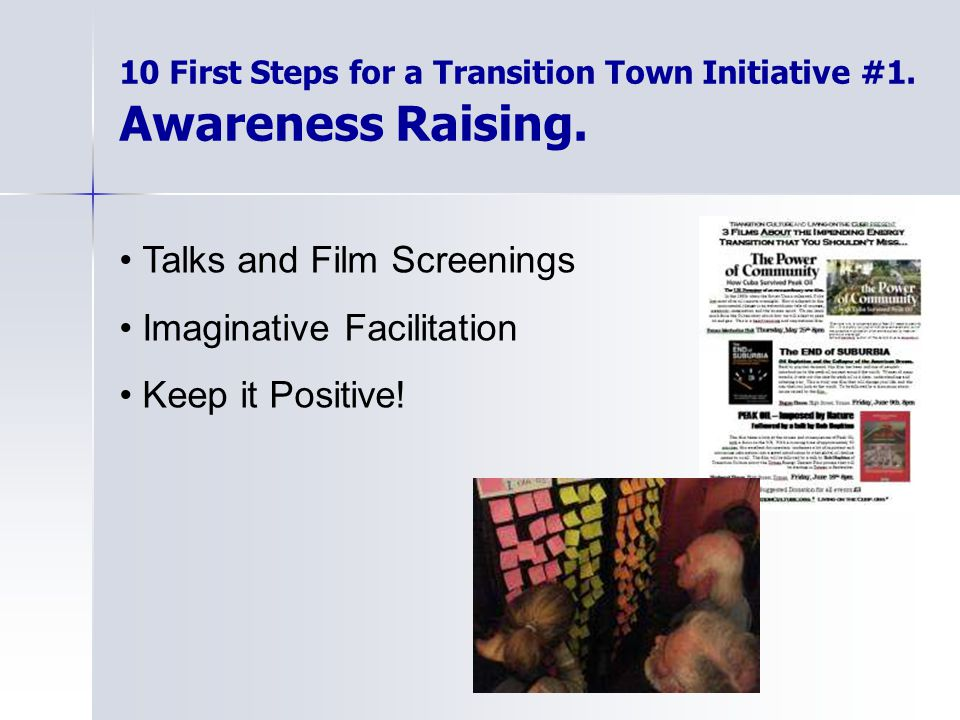 10 First Steps for a Transition Town Initiative #1.