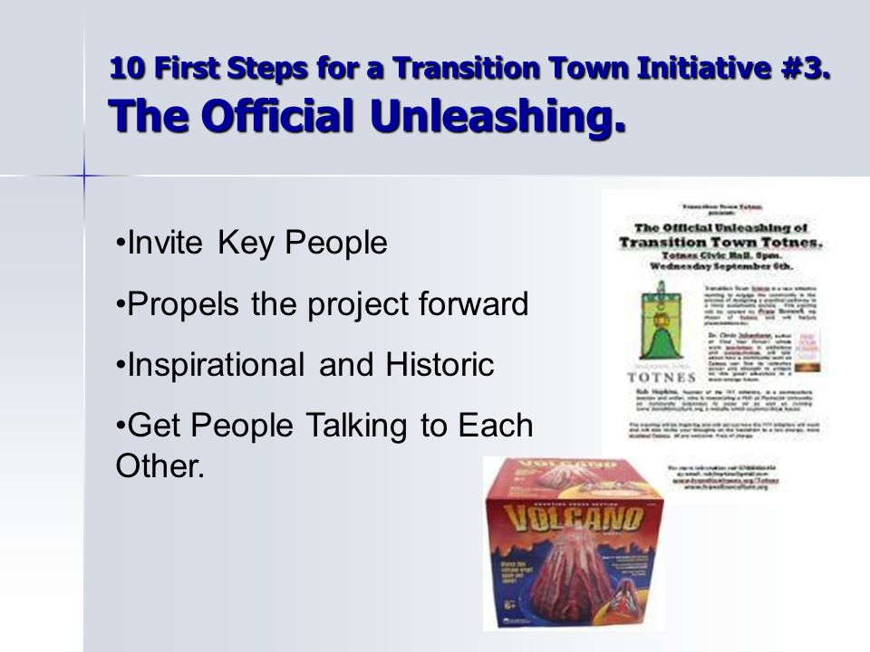 10 First Steps for a Transition Town Initiative #3.