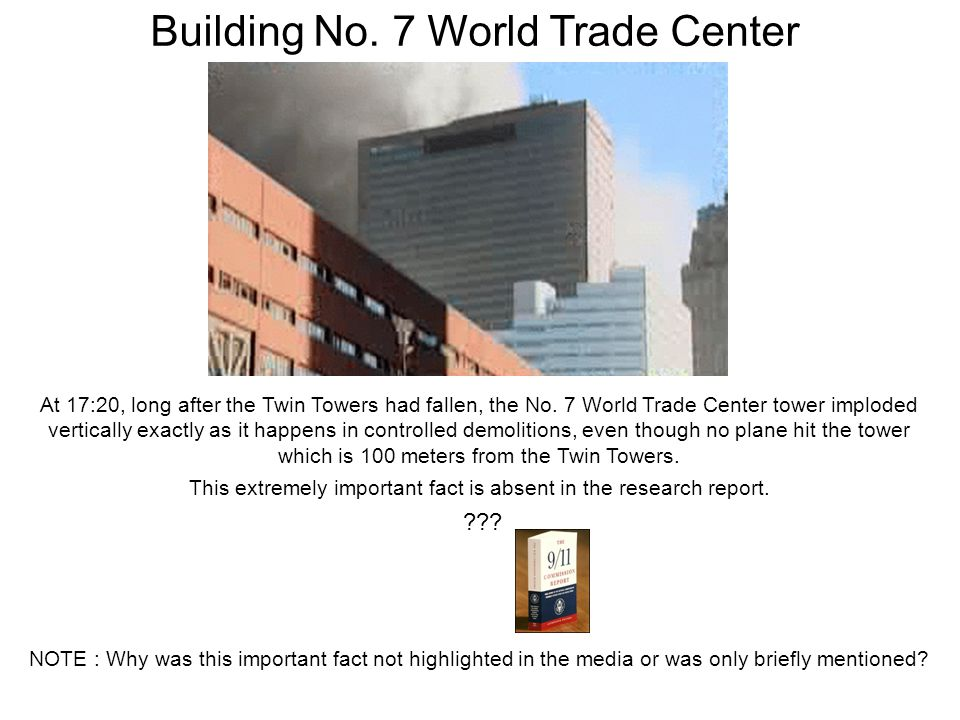 At 17:20, long after the Twin Towers had fallen, the No.