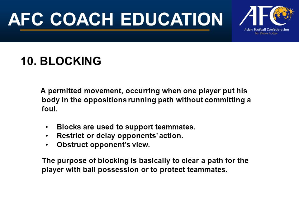 AFC COACH EDUCATION 10.