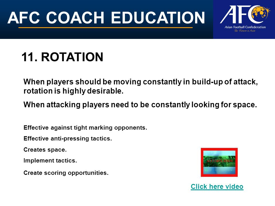 AFC COACH EDUCATION 11.