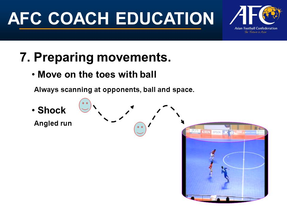 AFC COACH EDUCATION 7. Preparing movements.