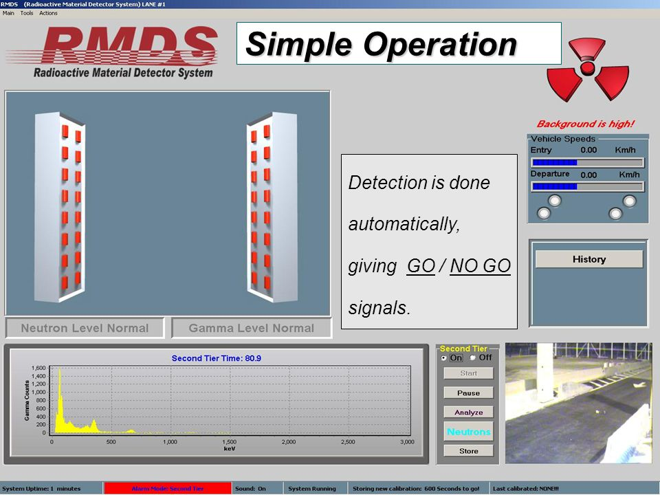 9 Detection is done automatically, giving GO / NO GO signals. Simple Operation