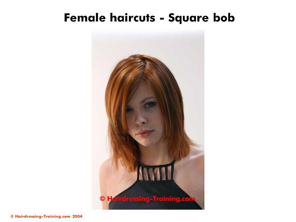 © Hairdressing-Training.com 2004 Female haircuts - Square bob