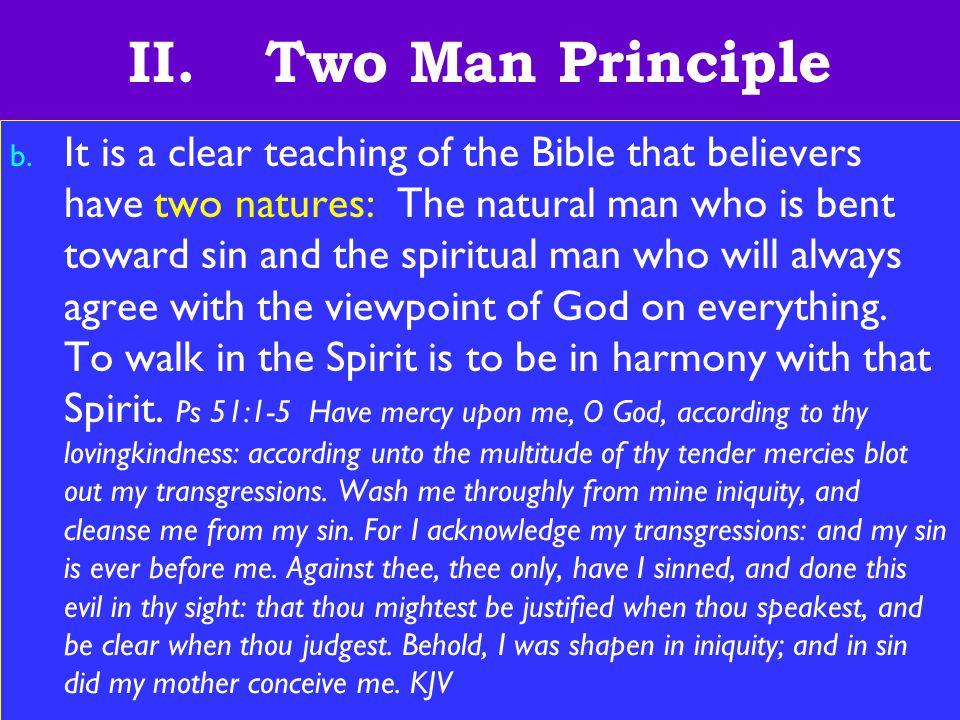 12 II. Two Man Principle b.