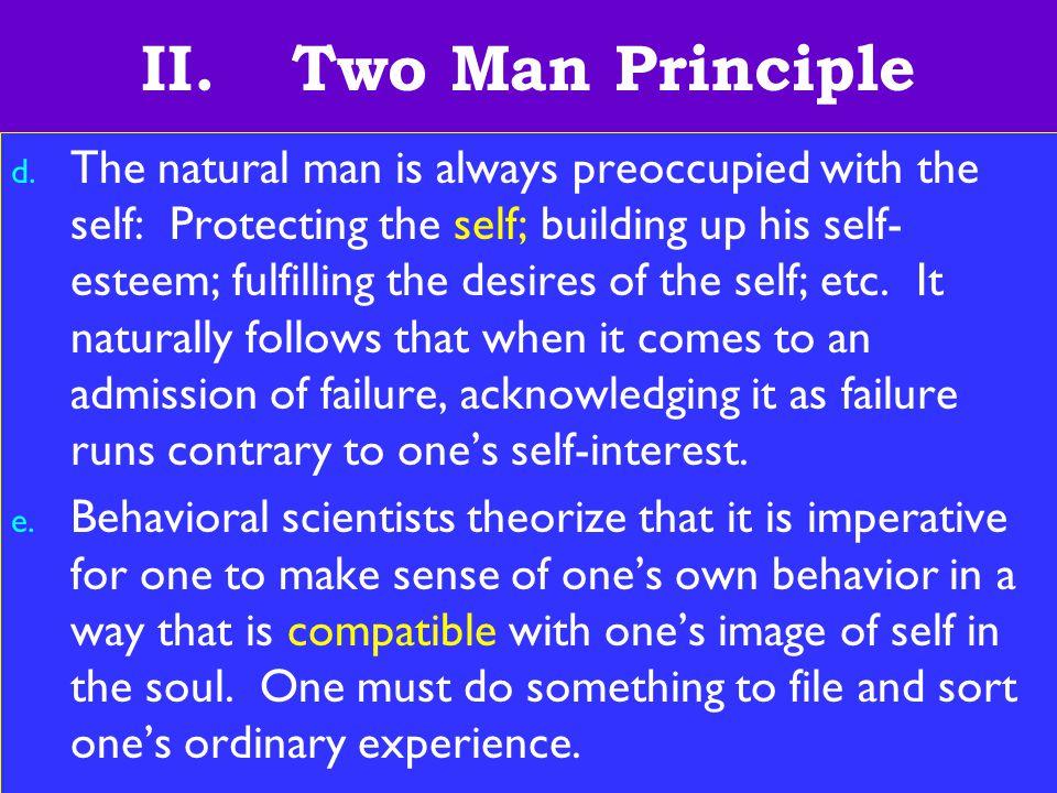14 II. Two Man Principle d.