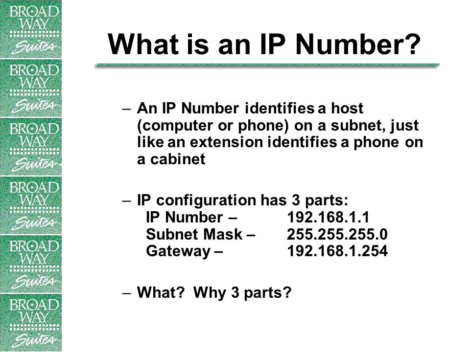 What is an IP Number.