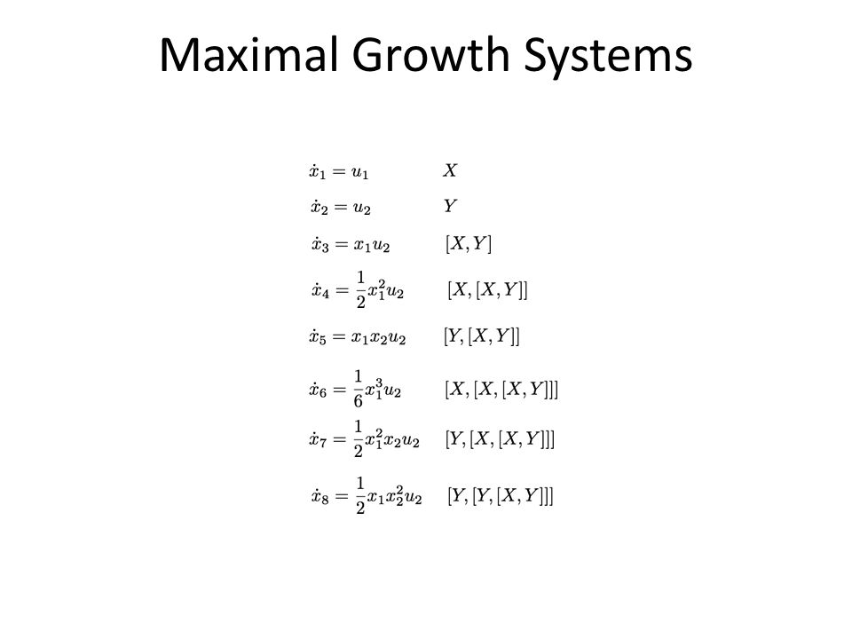 Maximal Growth Systems