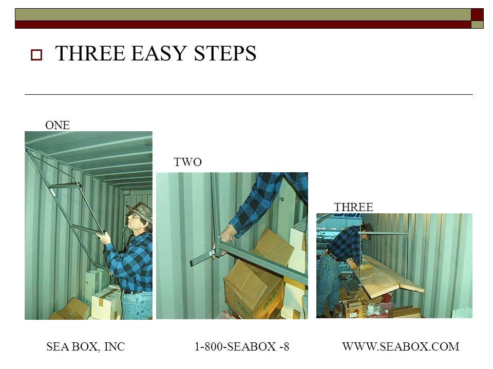  THREE EASY STEPS ONE TWO THREE SEA BOX, INC1-800-SEABOX -8WWW.SEABOX.COM