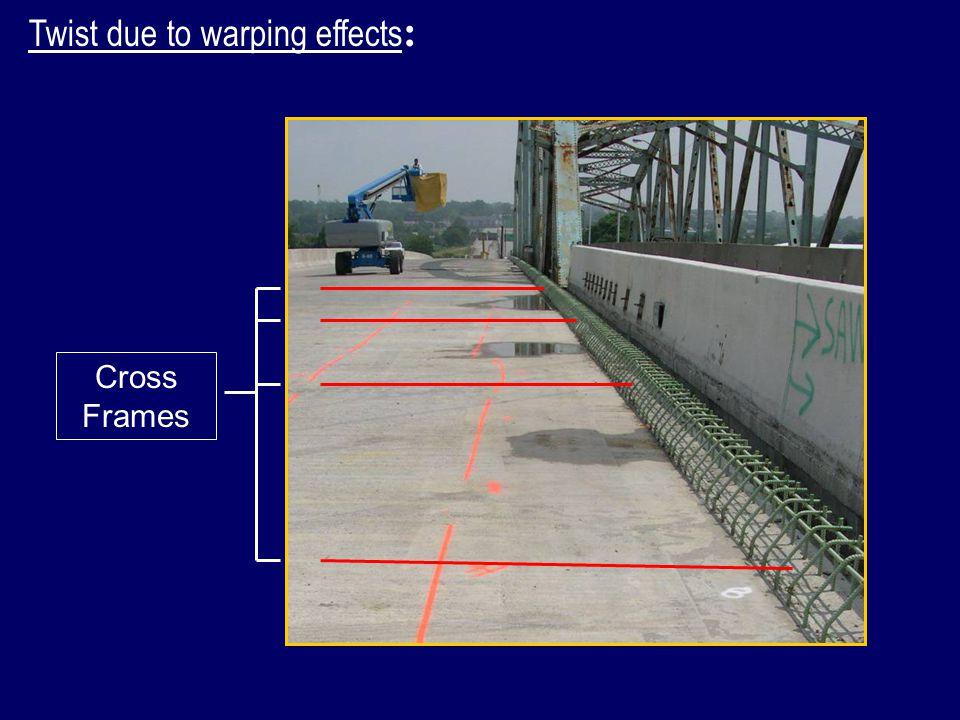 Twist due to warping effects : Cross Frames