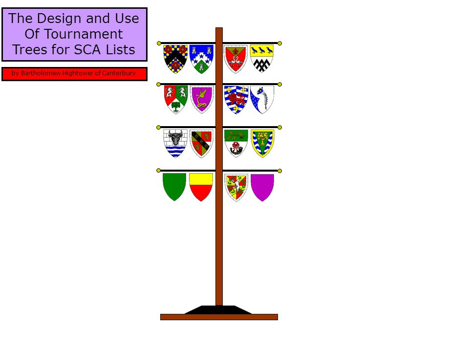 The Design and Use Of Tournament Trees for SCA Lists by Bartholomew Hightower of Canterbury