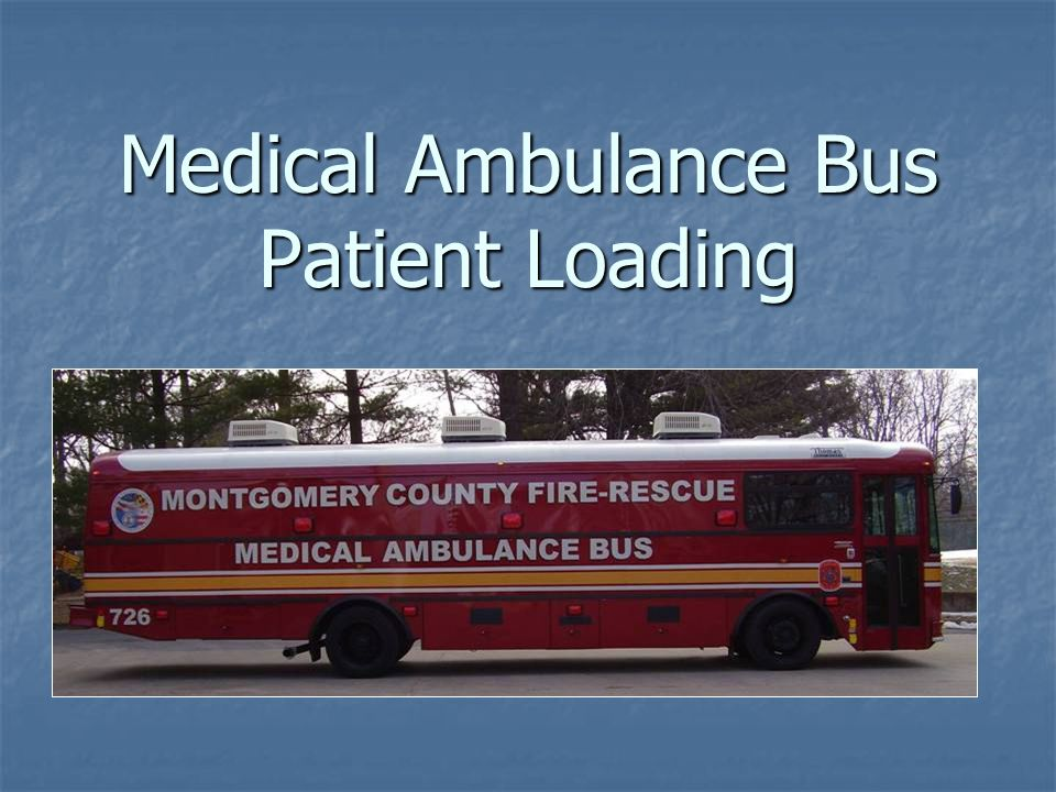 Medical Ambulance Bus Patient Loading
