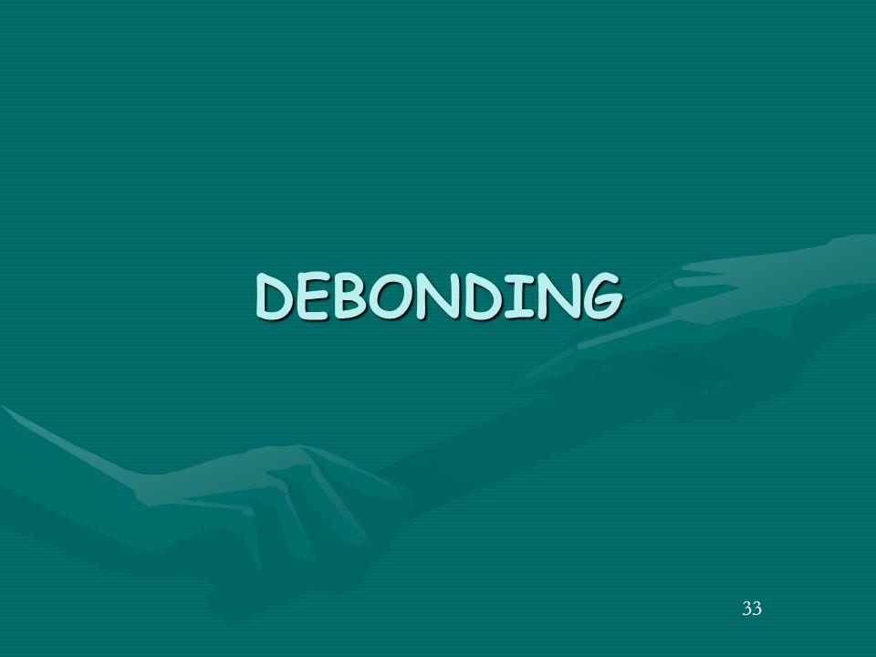 33 DEBONDING