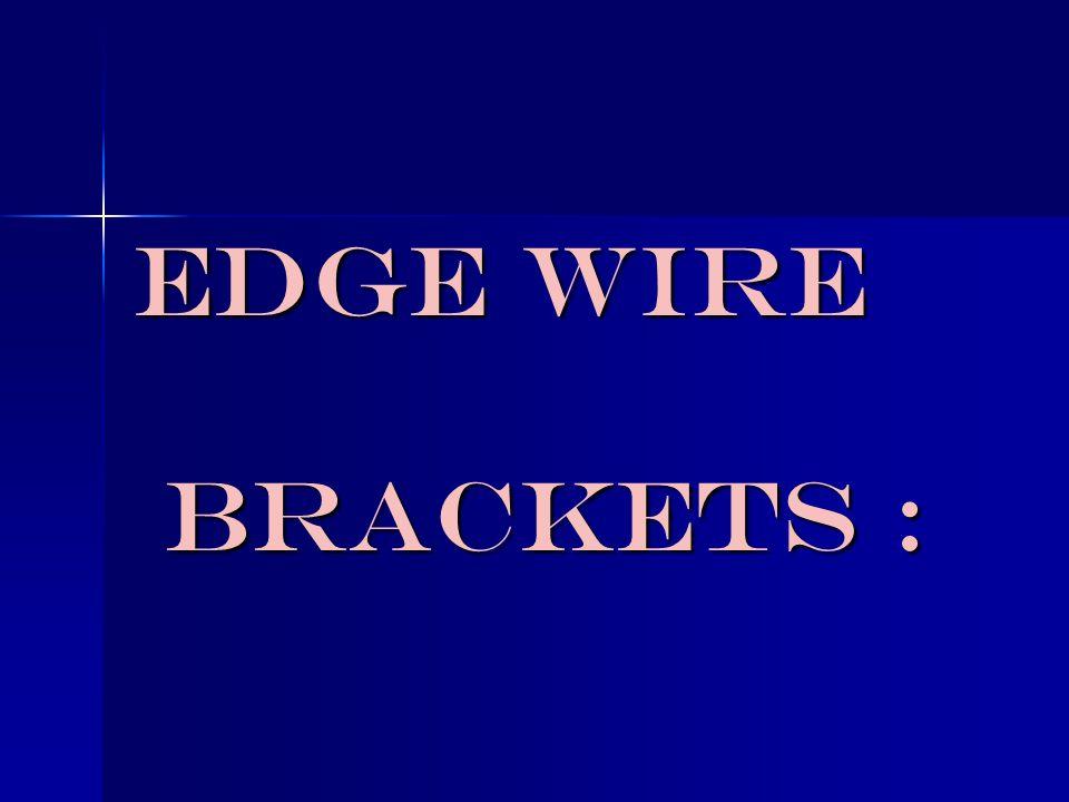 Edge Wire Brackets :