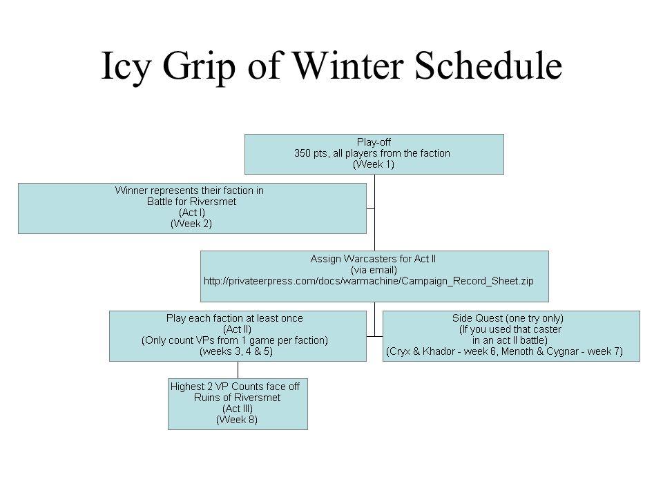 Icy Grip of Winter Schedule
