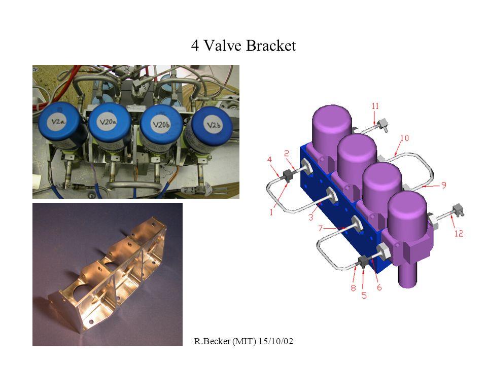 R.Becker (MIT) 15/10/02 4 Valve Bracket
