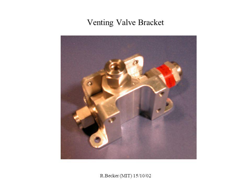 R.Becker (MIT) 15/10/02 Venting Valve Bracket