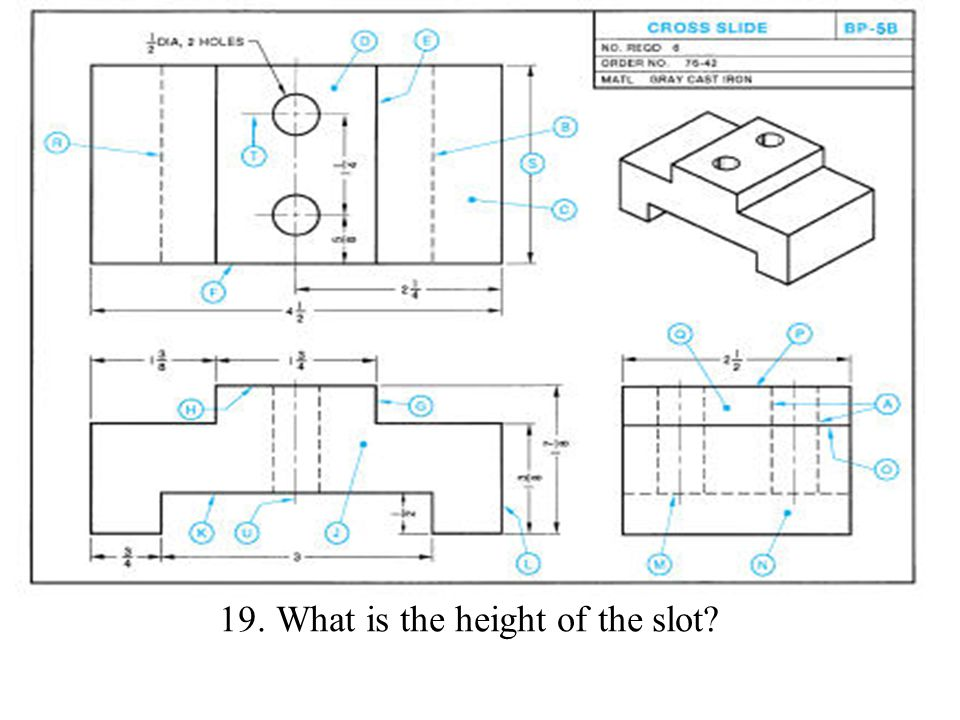 19. What is the height of the slot?