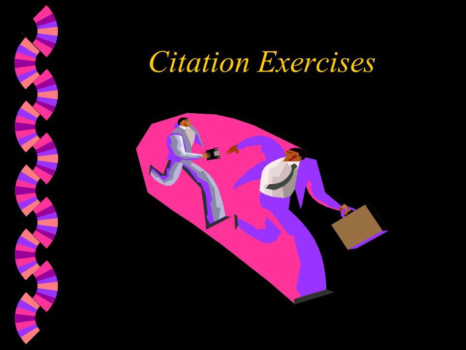 Citation Exercises
