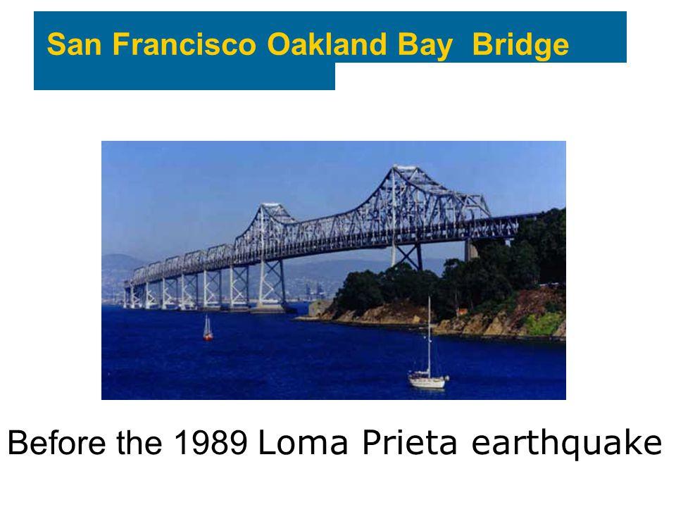 San Francisco Oakland Bay Bridge Before the 1989 Loma Prieta earthquake