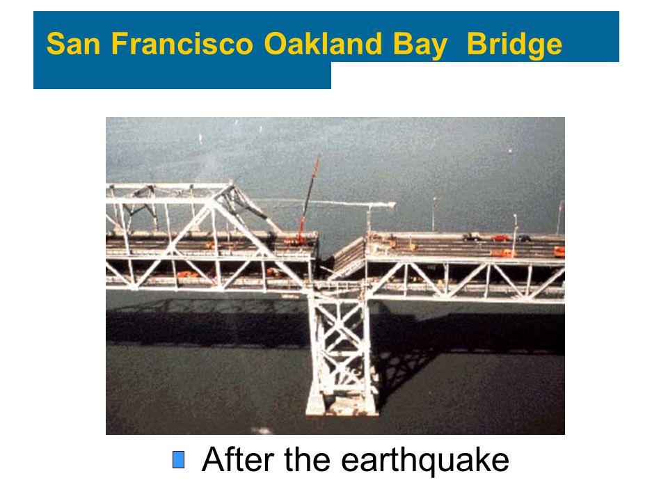 San Francisco Oakland Bay Bridge After the earthquake