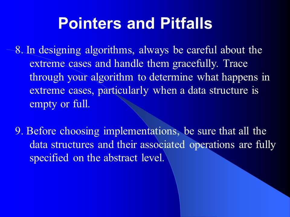 Pointers and Pitfalls 8.