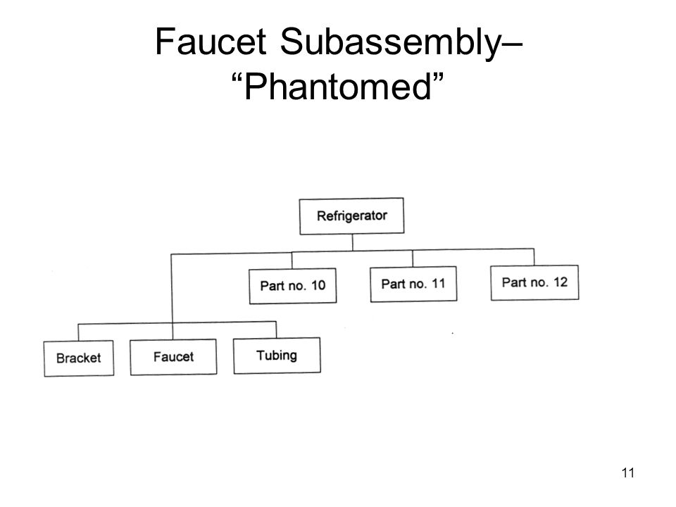 "11 Faucet Subassembly– ""Phantomed"""