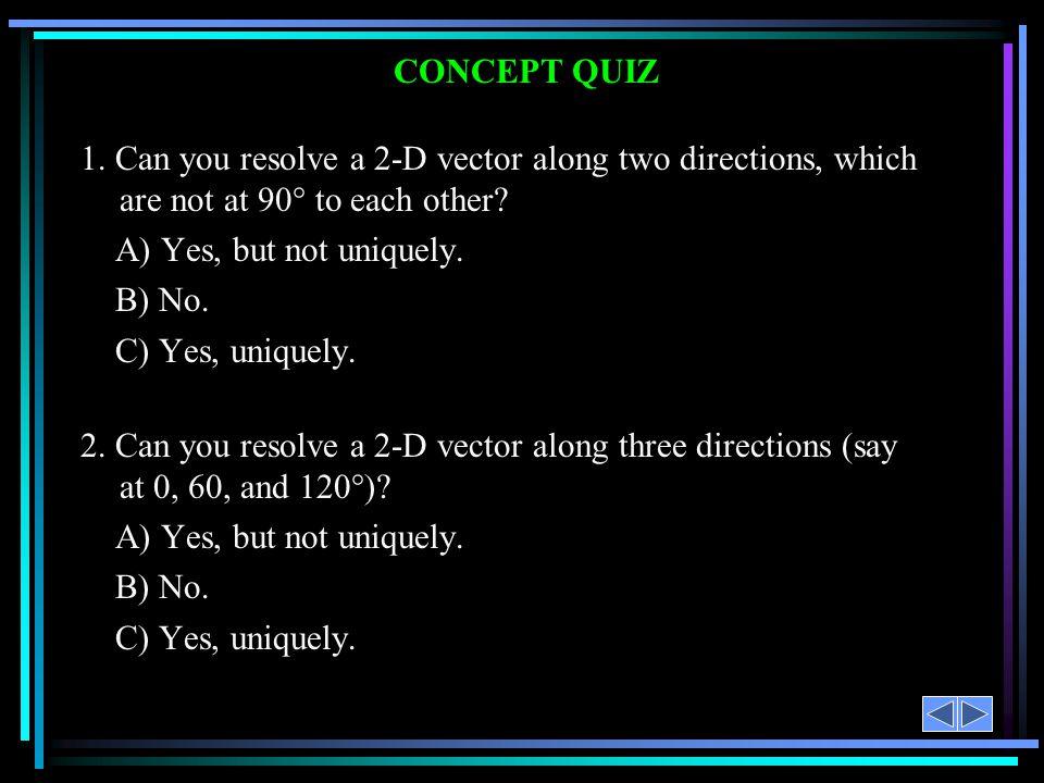 CONCEPT QUIZ 1.