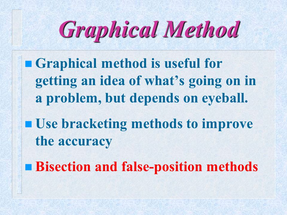 False-Position (point) Method Why bother with another method.