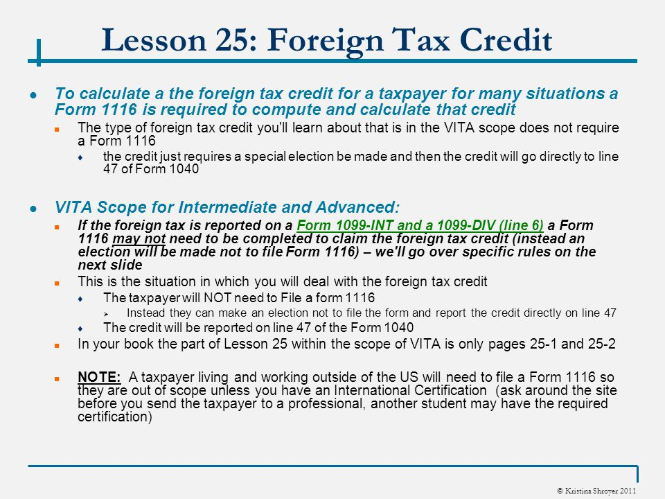 Publication 514, Foreign Tax Credit for Individuals; Comprehensive ...