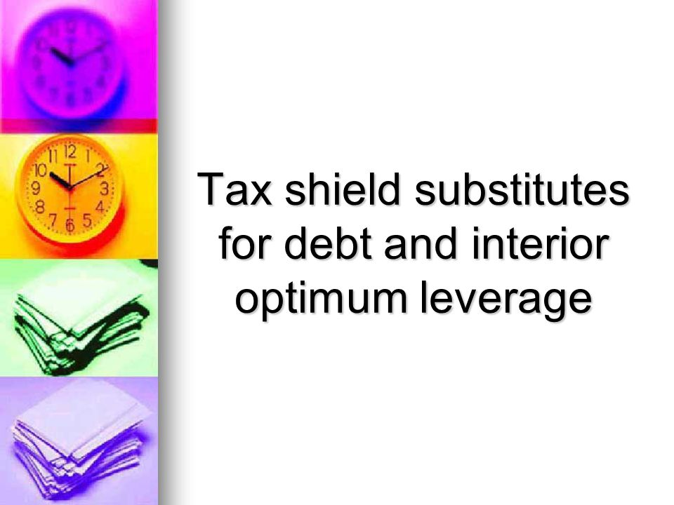 Tax shield substitutes for debt and interior optimum leverage