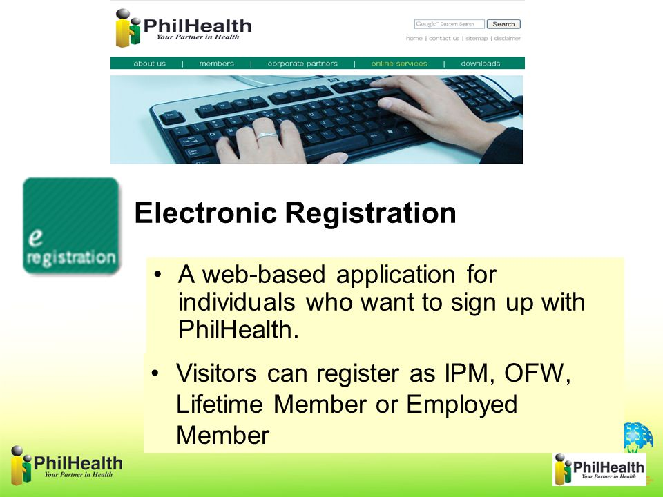 A web-based application for individuals who want to sign up with PhilHealth.